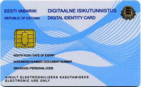 کارت هوشمند اقامت الکترونیک استونی
